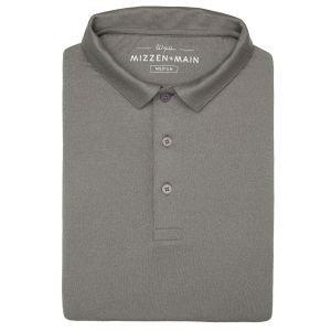 Mizzen + Main Phil Mickelson Short Sleeve Golf Polo - Charcoal Heather