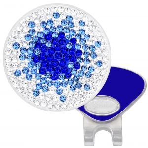 Navika Womens Micro Pave Crystal Hat Clip Ball Marker