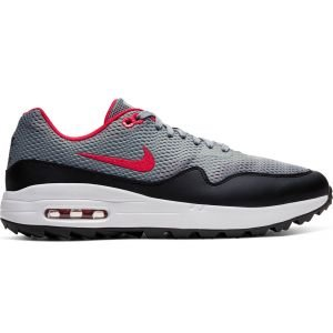 Nike Air Max 1 G Golf Shoes 2020 - Grey/Black/White/Red