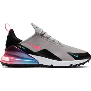 Nike Air Max 270 G Golf Shoes Atmosphere Grey/White/Black/Hot Punch