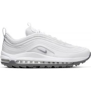 Nike Air Max 97 G Golf Shoes White/Metallic Cool Grey/White
