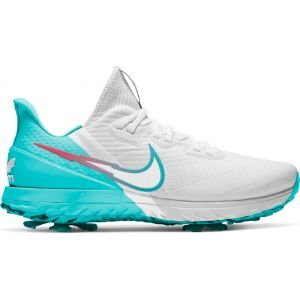 Nike Air Zoom Infinity Tour Golf Shoes 2021 - White/Hot Punch/Light Bone/Aurora