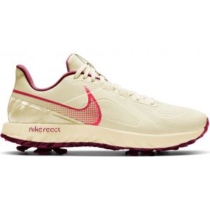 Nike React Infinity Pro Golf Shoes Sail/Fusion Red/Dark Beetroot