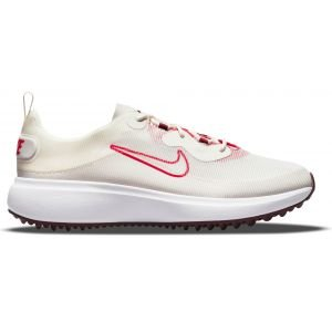 Nike Womens Ace Summerlite Golf Shoes Sail/Light Bone/White/Fusion Red