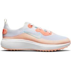 Nike Womens Ace Summerlite Golf Shoes White/Light Dew/Sail/Bright Mango