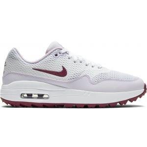 Nike Womens Air Max 1 G Golf Shoes 2020 - White/Villain Red/Barely Grape