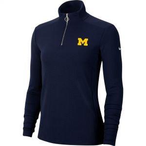 Nike Womens University of Michigan Wolverines Dri-FIT UV Victory Golf Pullover