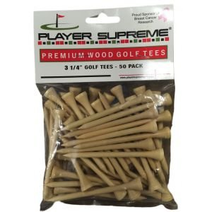 Player Supreme Natural Golf tees 3 1/4 50 Pack