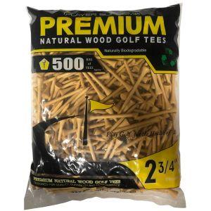 "Player Supreme Natural Golf Tees 2 3/4"" 500 Pack"