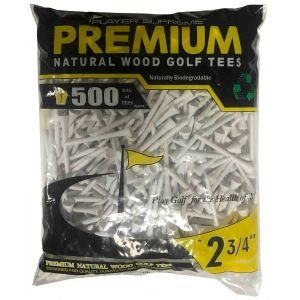 """Player Supreme White Golf Tees 2 3/4"""" 500 Pack"""