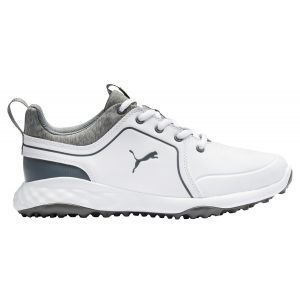 Puma Juniors Grip Fusion 2.0 Golf Shoes White/Quiet Shade