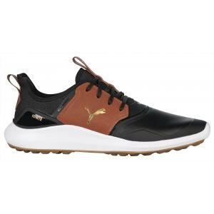 Puma IGNITE NXT Crafted Golf Shoes Puma Black/Leather Brown/Team Gold 2020