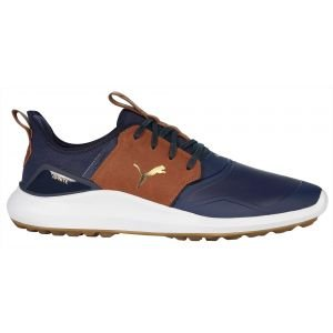 Puma IGNITE NXT Crafted Golf Shoes Peacoat/Leather Brown/ Team Gold 2020