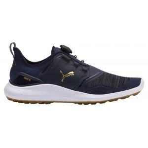 Puma IGNITE NXT DISC Golf Shoes Peacoat/Team Gold/White