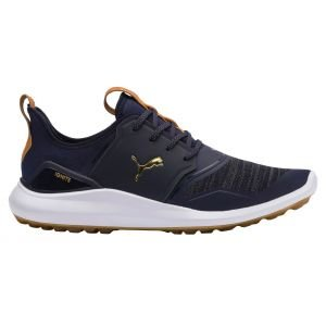 Puma Ignite NXT Lace Golf Shoes Peacoat/Team Gold/White