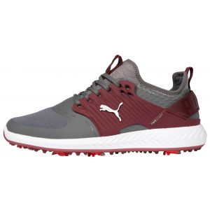 PUMA IGNITE PWRADAPT Caged Golf Shoes Quiet Shade/Silver/Zinfadel