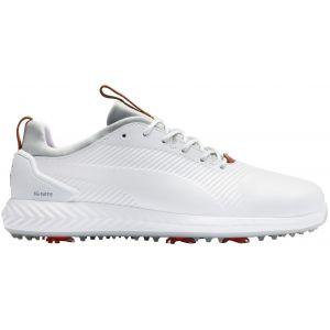Puma Ignite PwrAdapt Leather 2.0 Golf Shoes White/White 2020