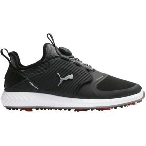 Puma Ignite PwrAdapt Caged Disc Golf Shoes Black/Silver/Black 2020