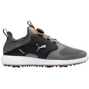Puma Ignite PwrAdapt Caged Disc Golf Shoes Quiet Shade/Silver/Black 2020