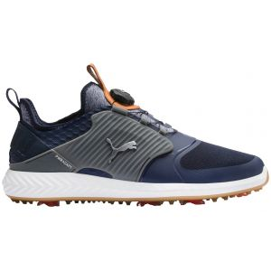 Puma Ignite PwrAdapt Caged Disc Golf Shoes Peacoat/Silver/Quiet Shade 2020