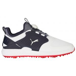 Puma Ignite PwrAdapt Caged Disc Golf Shoes White/Silver/Peacoat 2020