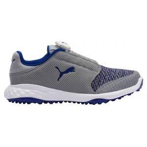 Puma Junior Boys Grip Fusion Sport Disc Golf Shoes - Quarry/Surf The Web