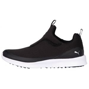 Puma Womens Laguna Fusion Slip On Golf Shoes Black/White