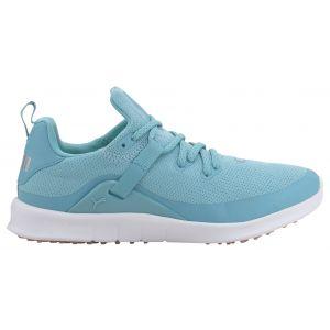 PUMA Womens Laguna Fusion Sport Golf Shoes Milky Blue/Metallic Silver - ON SALE