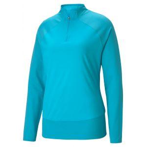 Puma Womens Mesh 1/4 Zip Golf Pullover