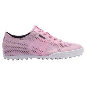 Puma Womens Monolite Cat Woven Golf Shoes Lilac Sachet/Peacoat