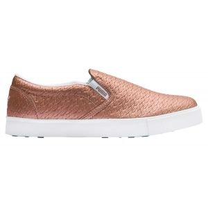Puma Womens Tustin Slip-On Golf Shoes Rose Gold/White