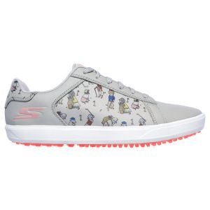 Skechers Womens Go Golf Drive 4 Dogs At Play Golf Shoes - Gray Pink