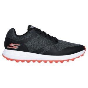 Skechers Womens Max Cut Spikeless Golf Shoes Black/Pink
