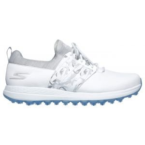 Skechers Womens Go Golf Max Lag Golf Shoes White/Gray - ON SALE
