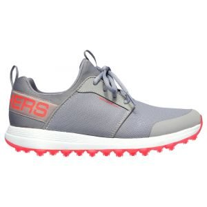 Skechers Womens GO GOLF Max Sport Golf Shoes Gray/Coral