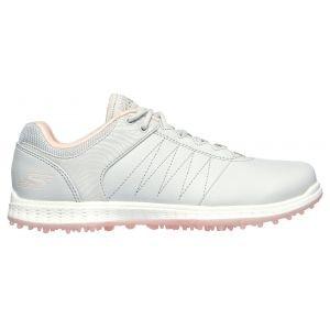 Skechers Womens GO GOLF Pivot Golf Shoes Grey/Pink