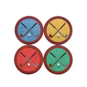 Smathers & Branson Needlepoint Coaster Set