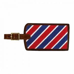 Smathers & Branson Needlepoint Luggage Tag