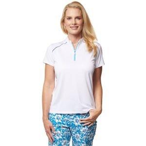 Sport Haley Womens Lattie Solid Golf Polo - ON SALE - WHITE - XXL