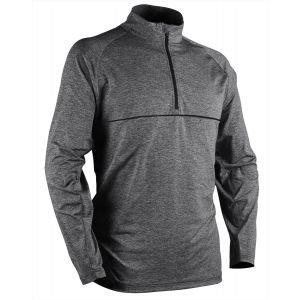 Sun Mountain Second Layer Golf Pullover - STEEL HEATHER - XXL