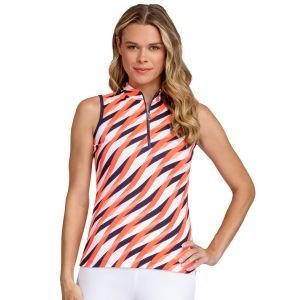 Tail Women's Adriana Sleeveless Golf Top Laced Wave