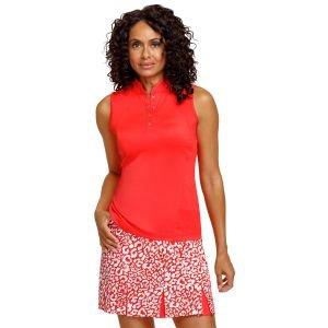 Tail Women's Cassie Sleeveless Golf Top Paprika