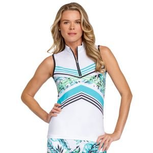 Tail Women's Fannie Sleeveless Golf Top Tropics-Placed