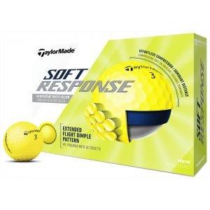TaylorMade Soft Response Yellow Golf Balls 2020
