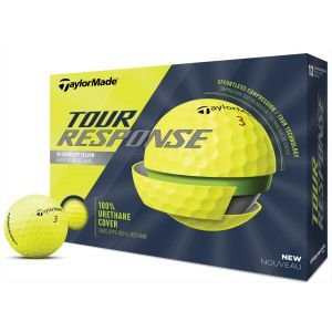 TaylorMade Tour Response Yellow Golf Balls 2020