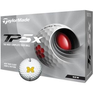 TaylorMade University of Michigan Wolverines TP5x Golf Balls