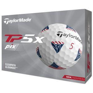 TaylorMade TP5x pix USA Golf Balls 2021