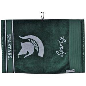 Team Effort Michigan State Spartans Jacquard Golf Towel