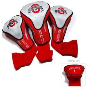 Team Golf Ohio State Buckeyes Contour Sock Headcovers 3 Pack