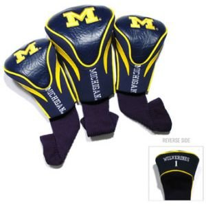 Team Golf Michigan Wolverines Contour Sock Headcovers 3 Pack